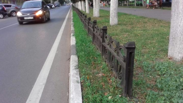 Ярославцы заставили мэрию сохранить чугунный забор на проспекте Ленина