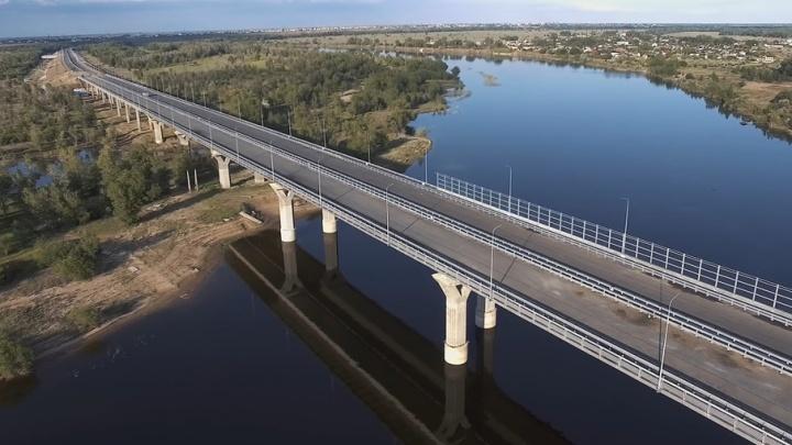 Мост через Ахтубу под Волгоградом почти не изменился за год