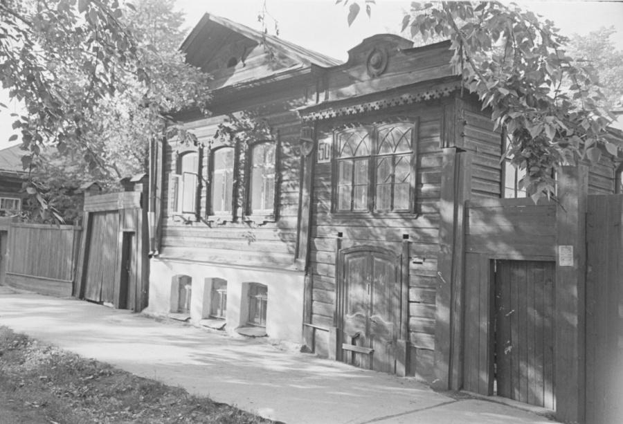 Дом Зубрицких на будущей улице Ельцина.