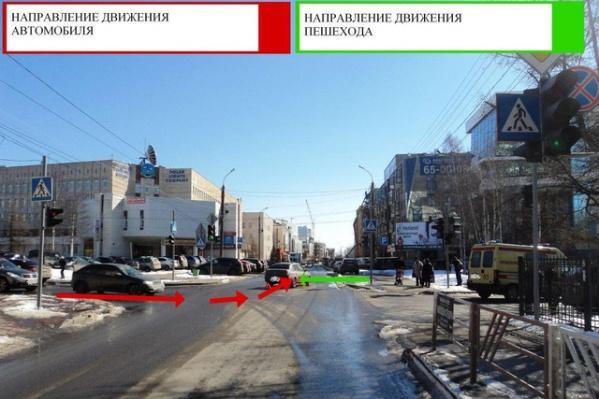 ДТП произошло на перекрестке улицы Поморской и Набережной Северной Двины