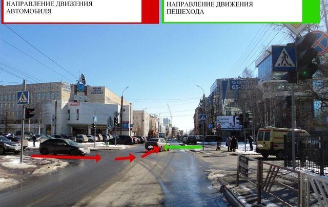 В центре Архангельска водитель «Рено» сбил женщину на зебре