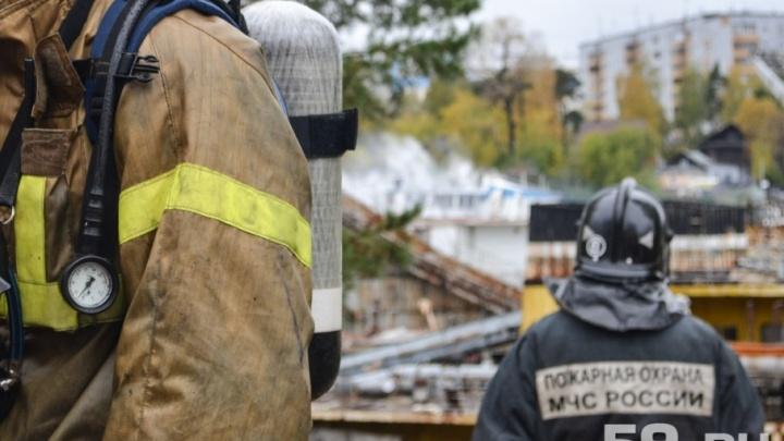 В Прикамье на пожаре в частном доме погибла пенсионерка