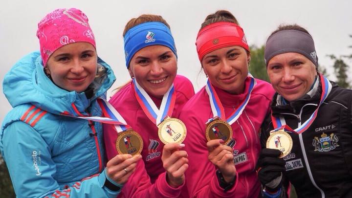 На женской эстафете по летнему биатлону победила сборная Тюменской области