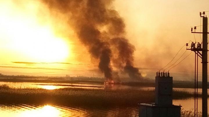 Пригороды Тюмени окутало дымом: в выходные горели 360 гектаров травы и леса