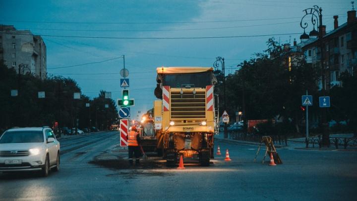 На улице Республики из-за ремонта по ночам действует реверсивное движение