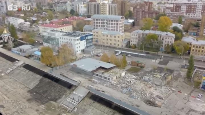 Видео: в Самаре расчистили место для нового речного вокзала