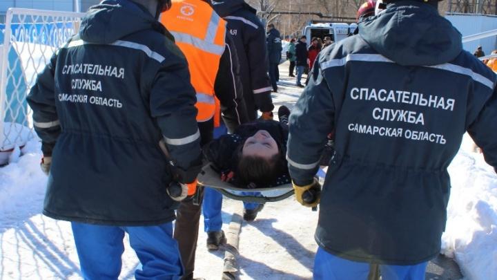 «Трибуна рухнула»: медики и спасатели провели учения на стадионе «Металлург»