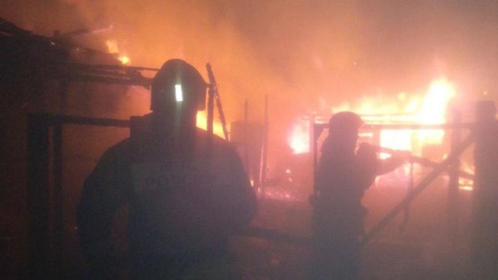 Ночной пожар в Антипино: в сгоревшем доме обнаружили тело