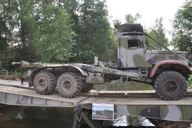 Построенная переправа может выдержать колонну танков