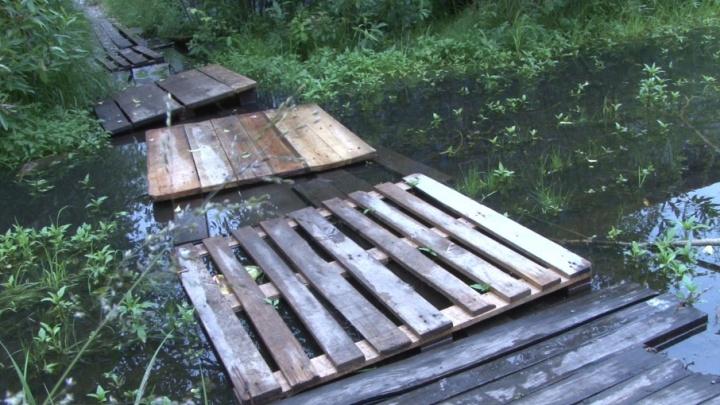 На острове Бревенник две недели назад перестали чистить канализацию