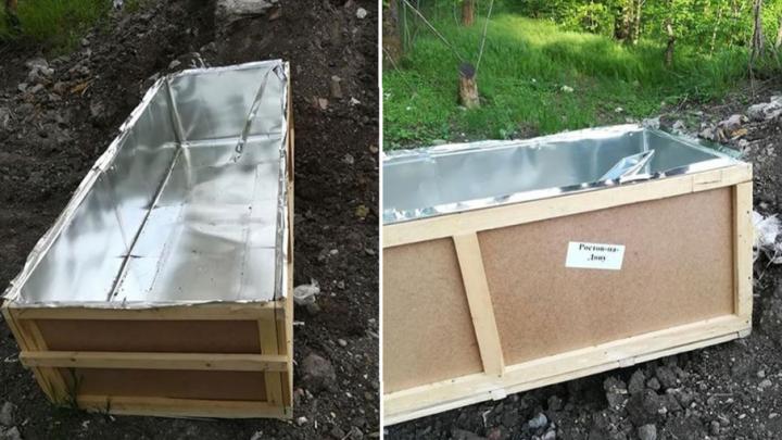 В Ростове нашли пустой цинковый гроб груза 200