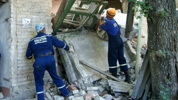 В Ростовской области ветхий дом обрушился на мужчину