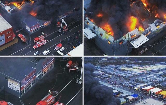 «Мы ждали очередного ЧП»: пожар на ростовском рынке «Атлант-Сити» бушевал несколько часов