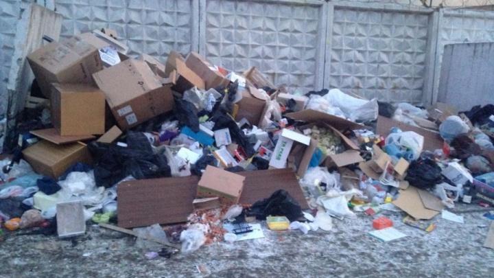 «Боимся пожара»: челябинцы пожаловались на горы мусора, скопившегося во дворе