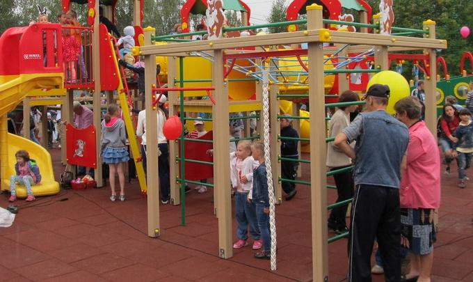 В Вилегодском районе построили детский парк на средства петербургских благотворителей