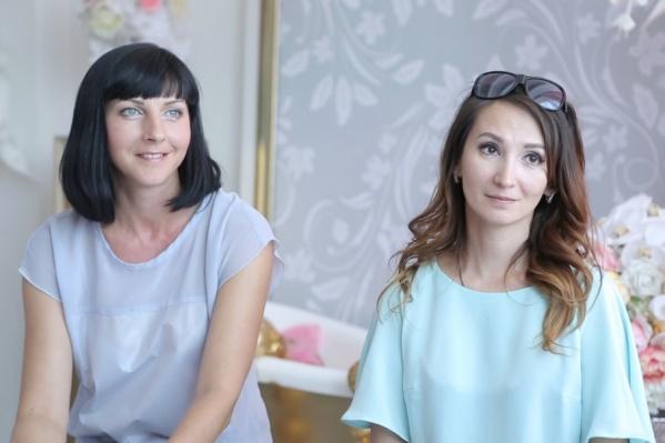 Оксана (слева) признаётся, что она больше исполнитель, творческие идеи принадлежат Наталье