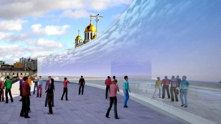Архитекторы предложили срезать часть стены на спуске площади Славы