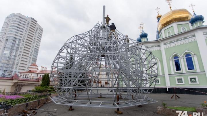 «Будут как золотые»: на челябинском соборе установят купола с титановым покрытием