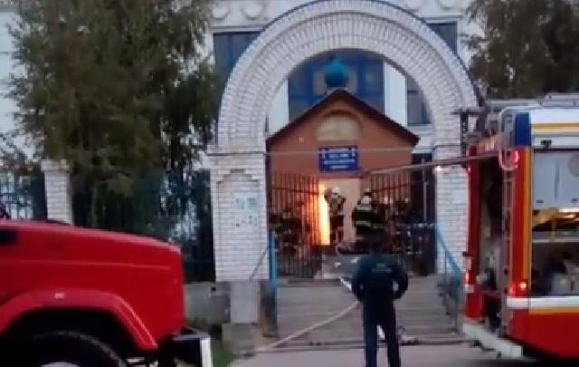 В Красноармейском районе Волгограда загорелся храм святого Иннокентия Московского