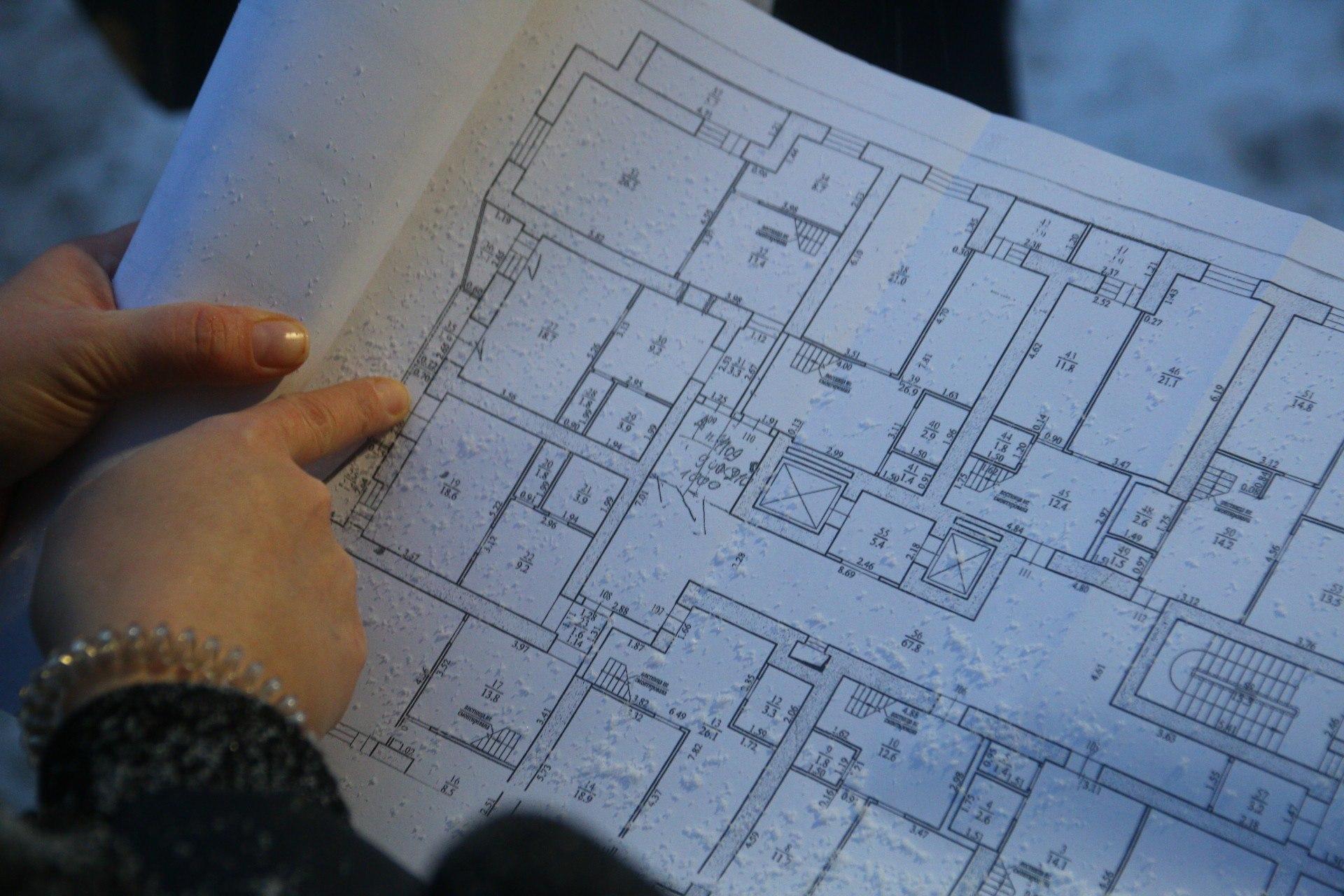 План этажа, где произошло ЧП