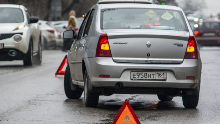 Три иномарки столкнулись в Ростове на улице Текучёва