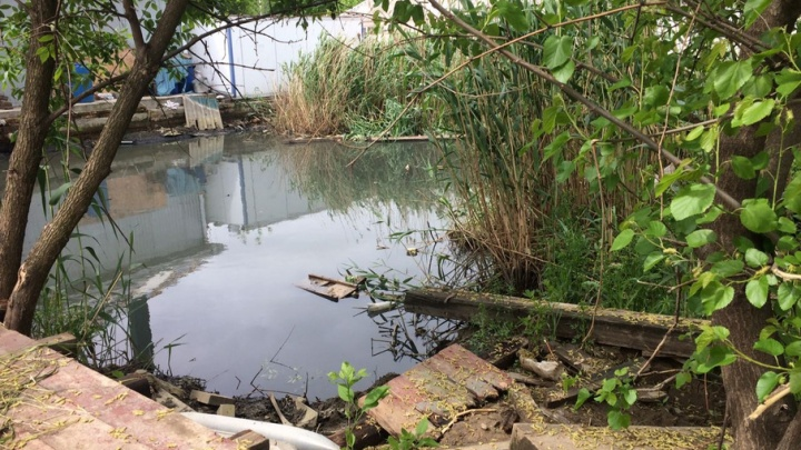 После ливня в Ростове частный дом оказался затоплен, а двор превратился в болото