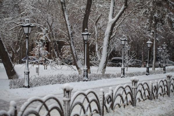 Понедельник, по прогнозу синоптиков, будет теплым и снежным