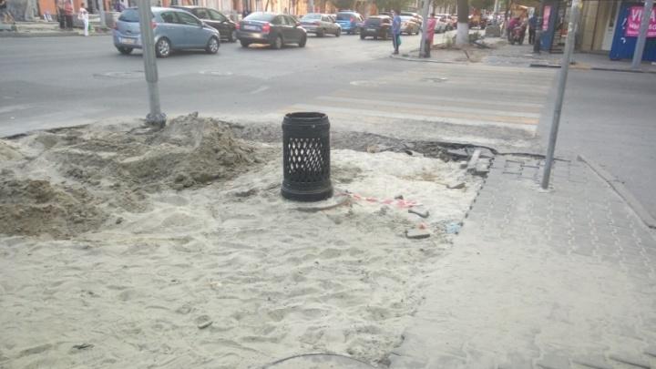 Мэрия: тротуарная плитка на Большой Садовой установлена согласно ГОСТу