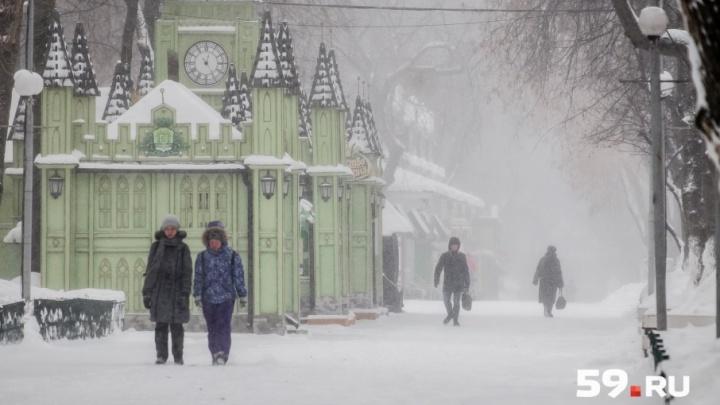 В МЧС предупредили пермяков о сильных снегопадах на следующей неделе