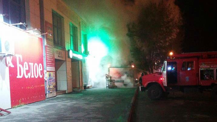 Овощной киоск сгорел во время массовой эвакуации в Челябинске