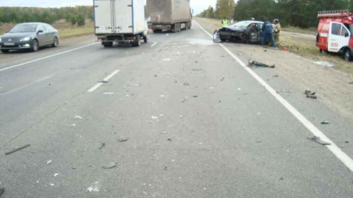 Последствия смертельной аварии на южноуральской трассе попали на видео