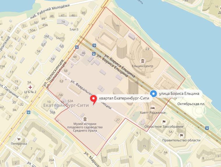 Квартал вполовину улицы Ельцина.