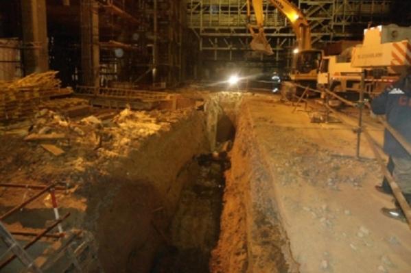 Трагедия произошла во время проведения строительных работ в траншее
