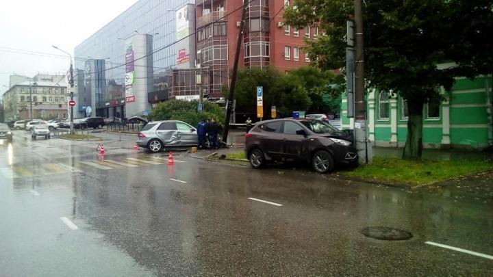 В Перми в ДТП пострадал несовершеннолетний мотоциклист