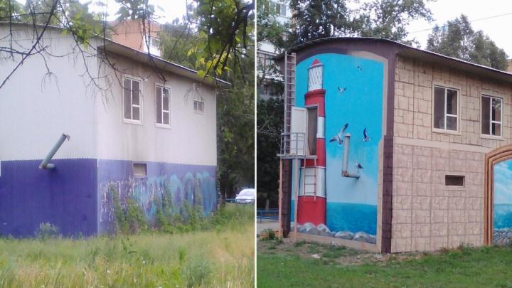 В Самаре на проспекте Кирова появилось новое граффити с маяком
