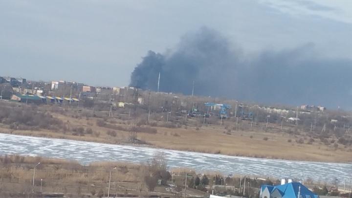 В Волгодонске произошел пожар в районе химзавода