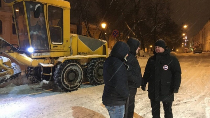 Мэр Ярославля из-за снегопада не попал домой