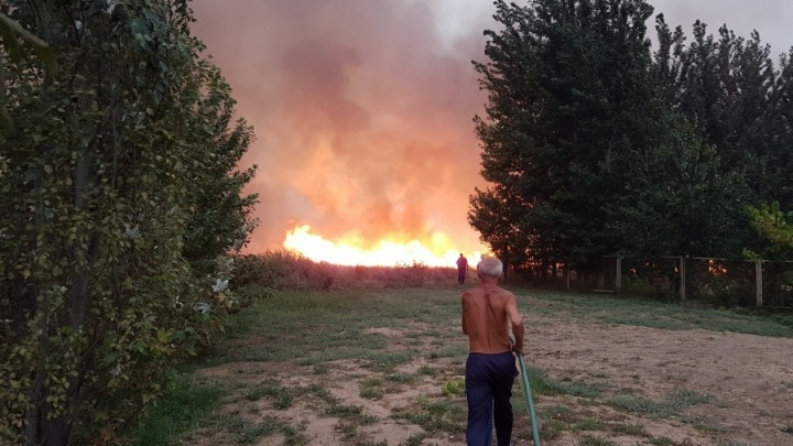 Как это было: волгоградец снял на видео страшный пожар в Средней Ахтубе