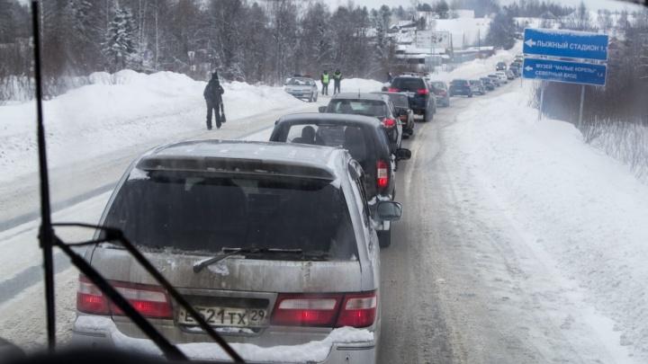 Перед новогодними праздниками на дорогах Поморья введены ограничения движения