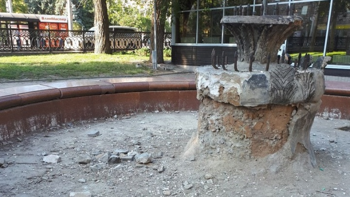 В Волгограде перед ЧМ-2018 не нашлось денег на ремонт разбитого фонтана на проспекте Ленина