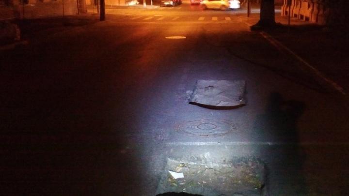 Ростовчанин пожаловался на «ямы-близнецы» в центре города