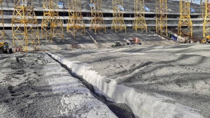 Рулонный газон на стадионе «Самара-Арена» начнут укладывать через месяц
