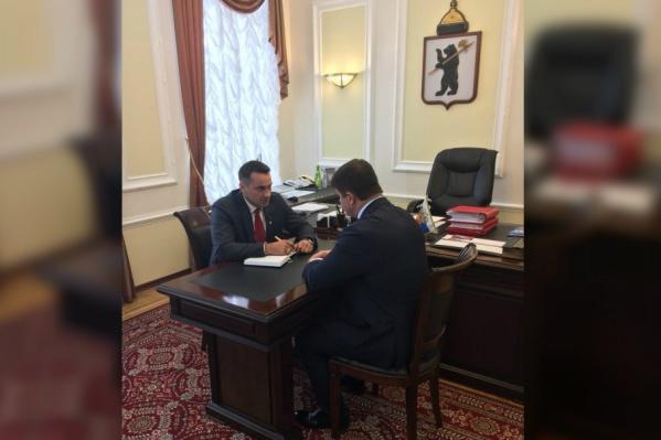Дмитрий Носов уже приступил к работе в мэрии Ярославля