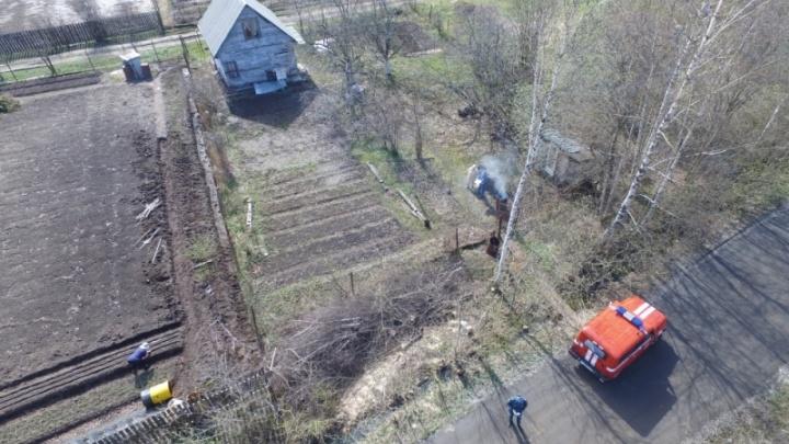 В Ярославле спасатели вычисляют поджигателей с помощью квадрокоптера