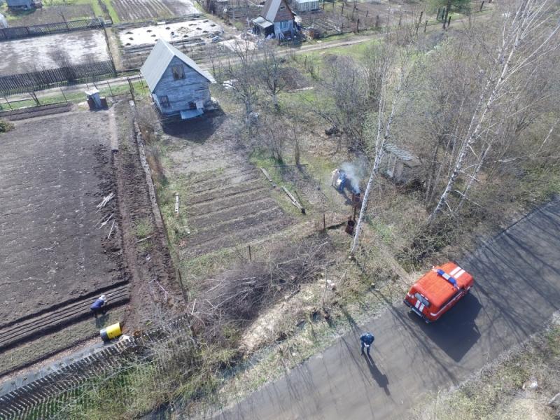 Спасатели вычисляют поджигателей с помощью квадрокоптера