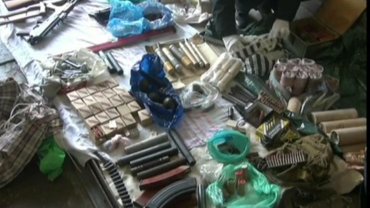 Опубликовано видео изъятия крупной партии боеприпасов в Волгограде