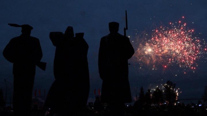 Архангельское небо «взорвалось» в честь Дня Победы