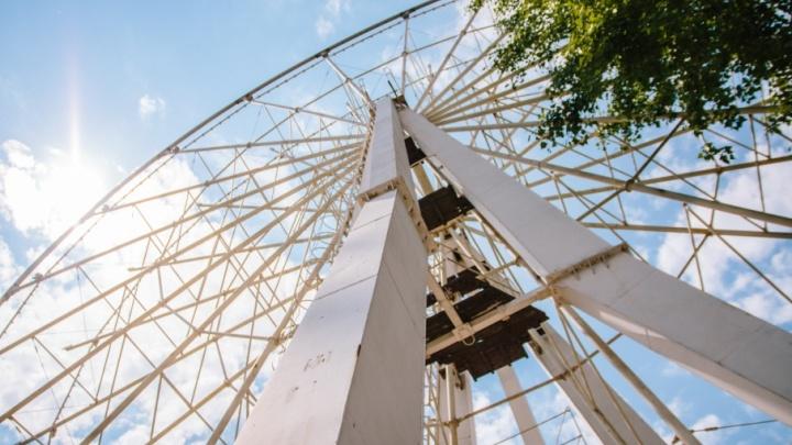 Самара с высоты 55 метров: колесо обозрения в парке Гагарина начнут устанавливать в конце апреля