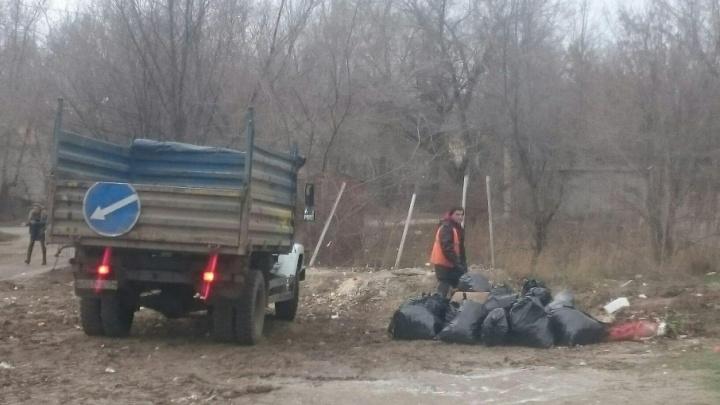В Дзержинском районе Волгограда вновь начался мусорный армагеддон