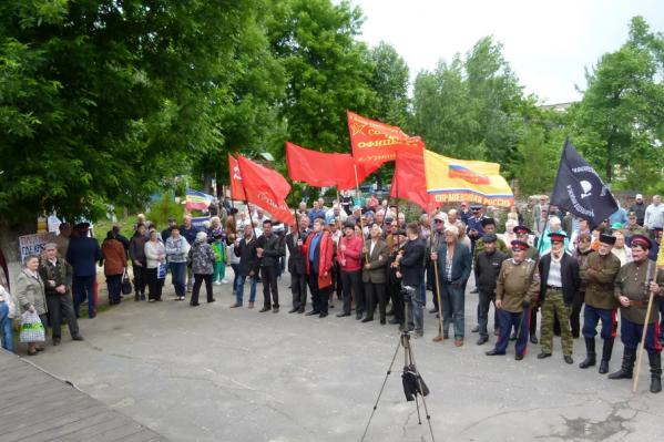 На митинг против добычи никеля пришли от ста до двухсот человек